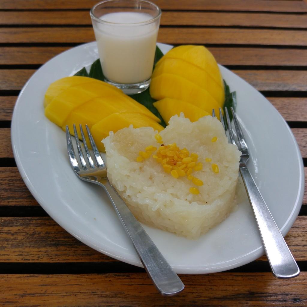 sticky rice with coconut milk