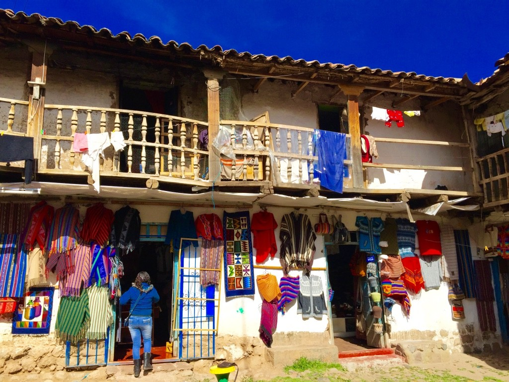 Cusco colorful shops