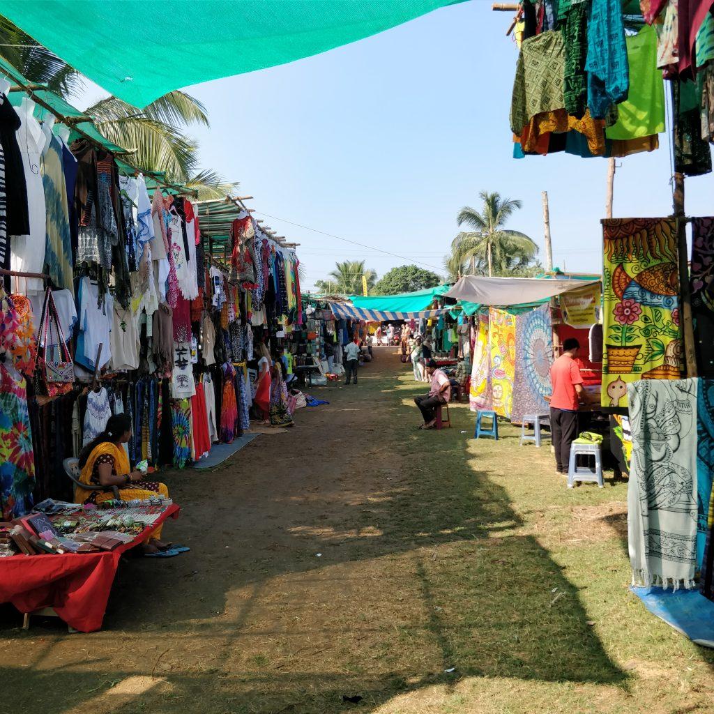 Anjuna'daki pazar