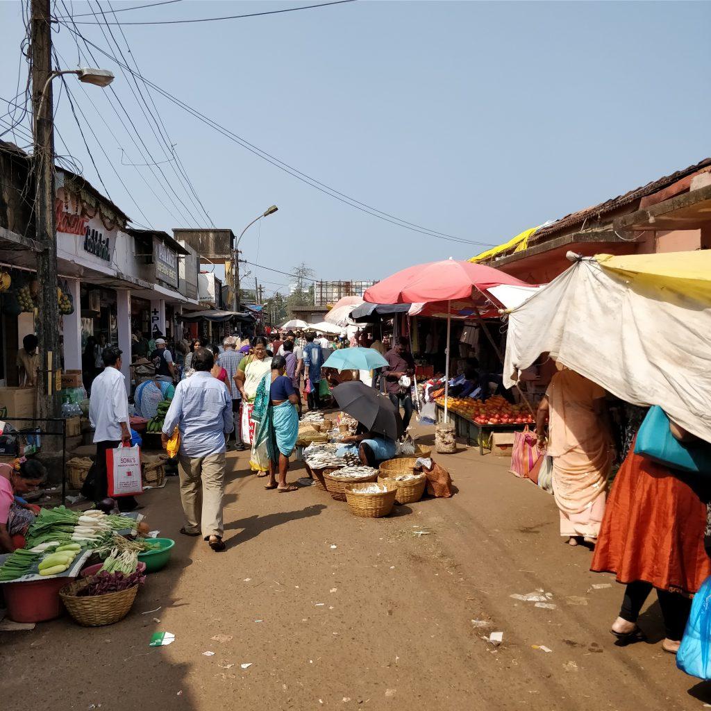 Mapusa Marketi balık kısmı, Kuzey Goa