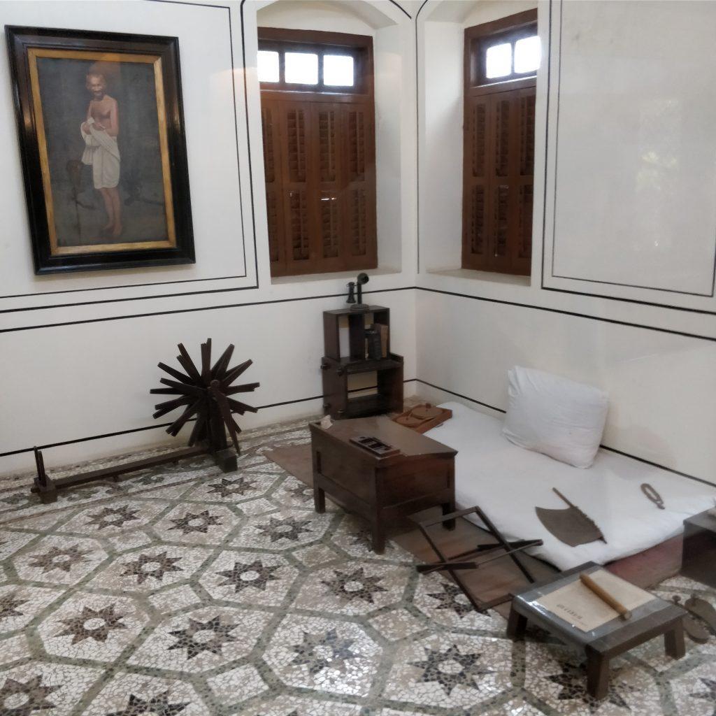 Gandhi'nin yatak odası