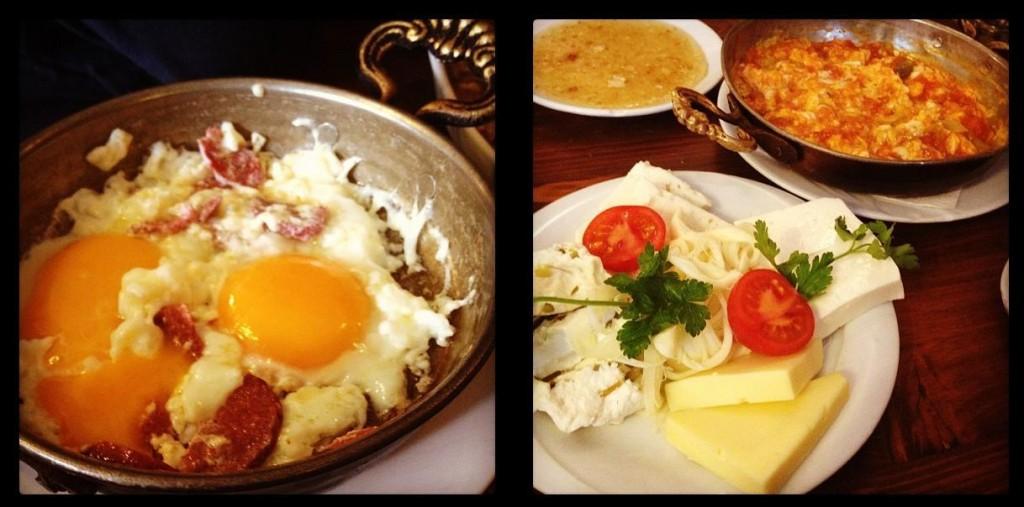 Sucuklu yumurta & Menemen