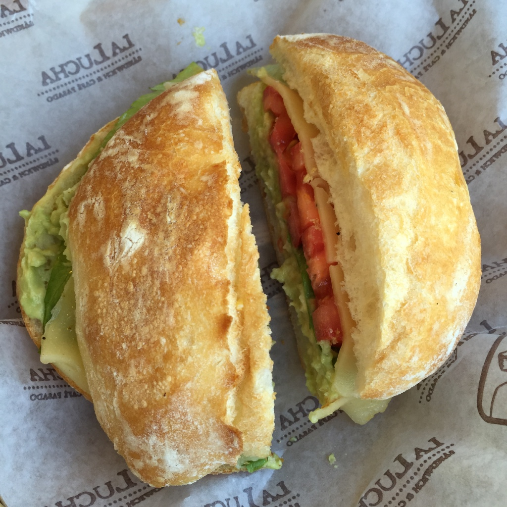 la lucha pesto sandwich