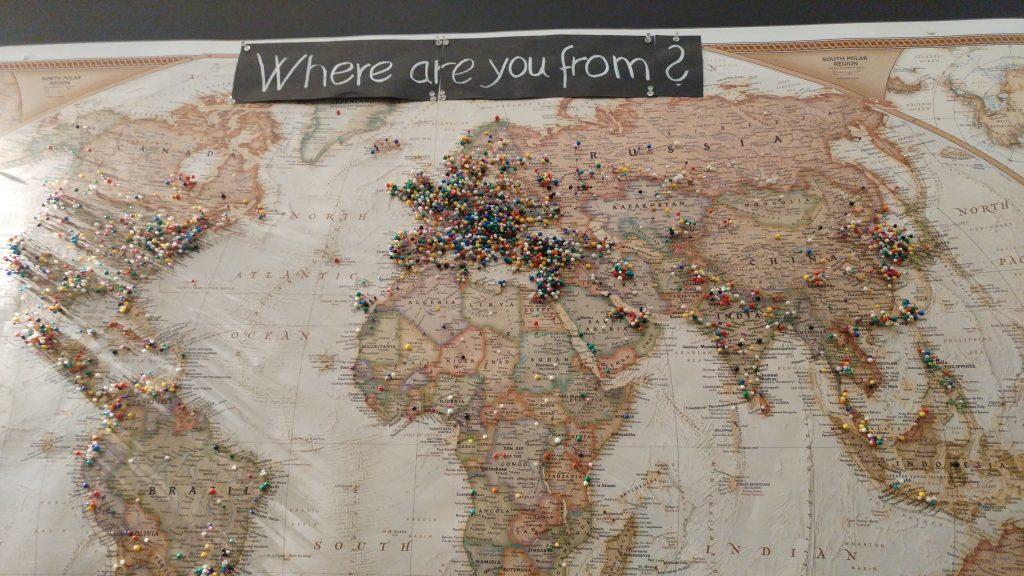 world map starbucks
