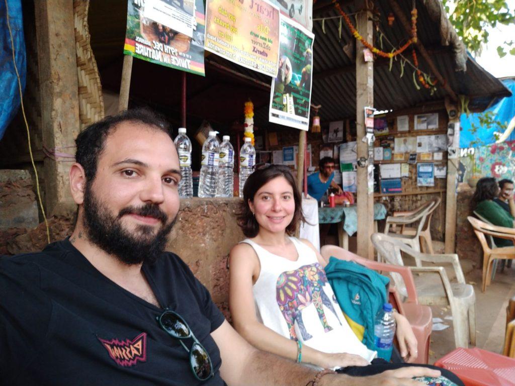 Arambol'daki sokak yemeği